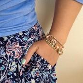 My new fav- the Arrison Stretch Bracelet with the Peach Amelie Sparkle bracelet
