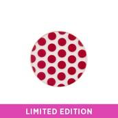 Medium Clear + Red Polka Dot Plate
