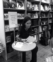 Jóhanna at her book launch