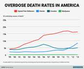 Deaths due to drug use