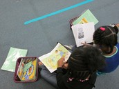 First graders reading during reading