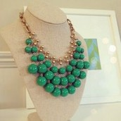 Green Bobble Necklace