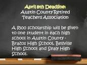 Austin County Retired Teachers April 8