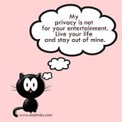 Don't share your private issues.