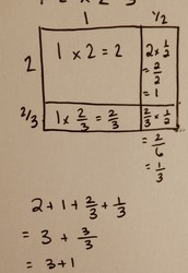 Mixed fraction times mixed fraction: use the area model