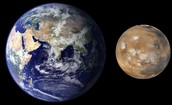 Mars In Compared To Earth