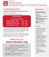 Chromebooks: Making the Move to 21st Century Teaching - August 1-4 @ RIU#6