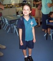 This is Samara in her Jubilee Primary School uniform in prep ↑