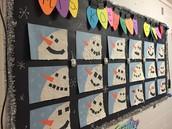 Snowmen by Mrs. Koebel's Gr. 4 Class