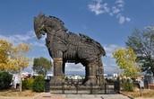 het paard van Troje in Griekenland