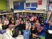 Our first class picture on our new carpet!