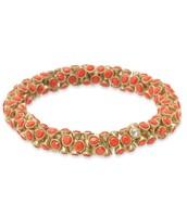 Vintage Twist Bracelet - Coral