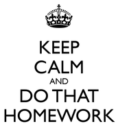 Homework Over the Break!
