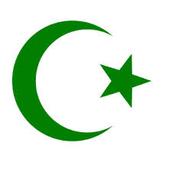 An Islamic symbol (Crescent Moon/Star)