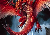 A Flying Red Dragon