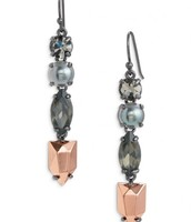 Kahlo Linear earrings - hematite $20