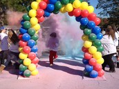 Check out the color at the finish line!
