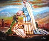 שמואל ממליך את דוד למלך.