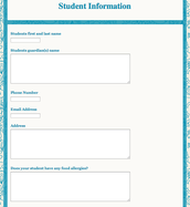 Create a Form to Obtain Parent Infomation