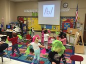Rocking out to Letter B - Dance Party!