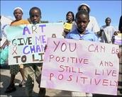 Children Make AIDS Awareness Signs