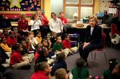 Hillary and children
