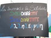 Nos collages pour la journée de la solidarité