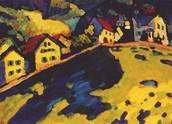 Houses at Murnau, 1909