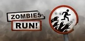 See a zombie run run as fast as you can or you will get eaten by them