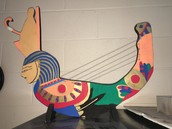 Reproduction of an Egyptian Harp
