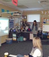 Mrs. Hesterman presenting on the Nightzookeeper
