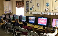 Even Pre-K students enjoy coming to the Computer Lab