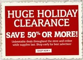 Holiday Clearance Sales