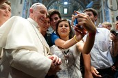 Pope Francis takes a selfie