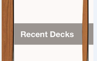 Recently Used Decks