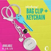 Bag Clip and Key Chain with Medium Living Locket