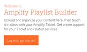Amplify Playlist Builder