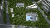Aerial View of National 9/11 Memorial