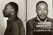 MLK After being arrested
