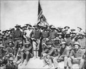 Roosevelt and his crew at San Juan Hill
