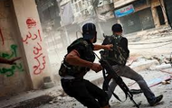 Rebels in Syria fighting government forces