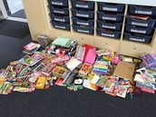 What a huge collection of stationary!