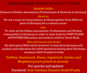 Indo-German Disaster Relief Funds