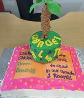 The incredible cake that Mrs. Monnette made us to celebrate Literacy week!