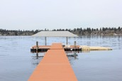 Lake New Condition Dock with Covered Boat Lift