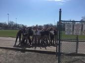 5th Grade PE Class Enjoying the beautiful day!