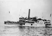 Steamboats for transportation