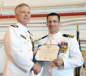 Man Being Awarded the Meritorious Service Medal