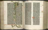 The first printed bible on the printing press