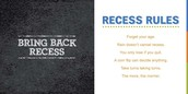 bring back recess were begin